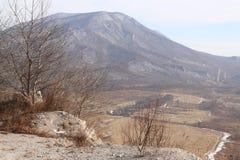 Visión desde la montaña Imagen de archivo libre de regalías