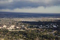 Visión desde la montaña Colorado de Cheyanne Fotografía de archivo libre de regalías