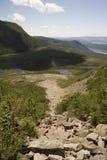 Visión desde la montaña de Gros Morne Imagen de archivo