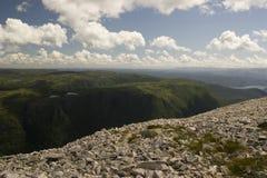 Visión desde la montaña de Gros Morne Fotos de archivo