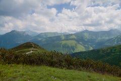 Visión desde la montaña de Grzes. Fotos de archivo libres de regalías
