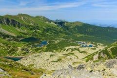 Visión desde la montaña de Koscielec. Foto de archivo libre de regalías