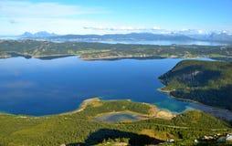 Visión desde la montaña de la altura Fotografía de archivo
