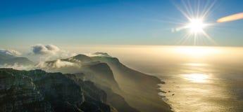 Visión desde la montaña de la tabla Imagen de archivo