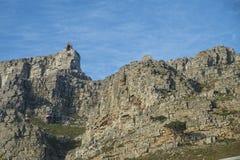 Visión desde la montaña de la tabla al teleférico fotografía de archivo