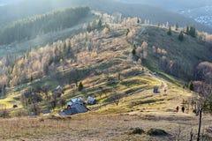 Visión desde la montaña de Makovytsia en Ucrania Imagen de archivo libre de regalías