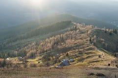 Visión desde la montaña de Makovytsia en Ucrania Fotos de archivo