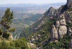 Visión desde la montaña de Montserrat, Cataluña Fotos de archivo libres de regalías