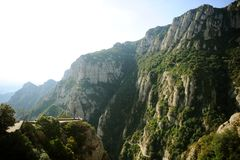 Visión desde la montaña de Montserrat españa Fotografía de archivo