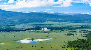 Visión desde la montaña de la señal, parque nacional magnífico de Teton fotografía de archivo