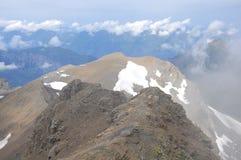 Visión desde la montaña de Shilthorn. Suiza. Foto de archivo libre de regalías