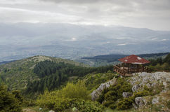 Visión desde la montaña de Vodno Imagen de archivo libre de regalías