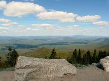 Visión desde la montaña de Whiteface, montañas de Adirondack Fotos de archivo