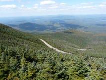 Visión desde la montaña de Whiteface, montañas de Adirondack Imágenes de archivo libres de regalías