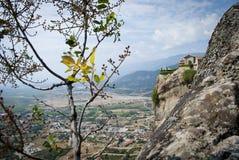 Visión desde la montaña en Grecia fotos de archivo