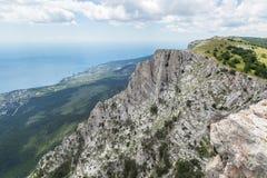 Visión desde la montaña a la costa costa Fotografía de archivo