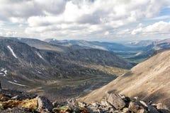 Visión desde la montaña Yudychvumchorr Imágenes de archivo libres de regalías