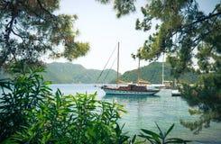 Visión desde la orilla al mar Fotografía de archivo libre de regalías
