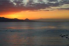 Visión desde la playa Las Canteras en Gran Canaria fotografía de archivo