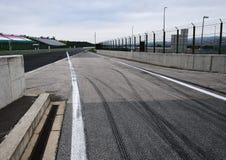 Visión desde la pole position en una pista Fotografía de archivo libre de regalías