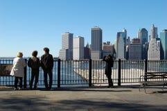 Visión desde la 'promenade' en Brooklyn Nueva York Imágenes de archivo libres de regalías