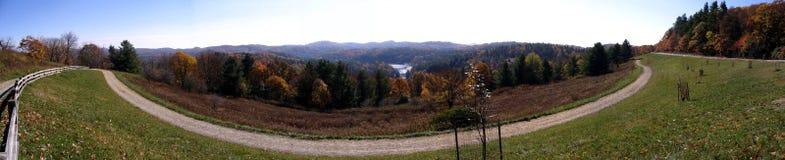 Visión desde la ruta verde azul de Ridge Imagenes de archivo