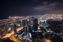 Visión desde la tapa de Burj Khalifah Imágenes de archivo libres de regalías