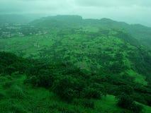 Visión desde la tapa de la montaña Foto de archivo libre de regalías