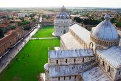 Visión desde la tapa de la torre de Pisa Fotos de archivo