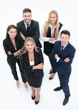 Visión desde la tapa Grupo profesional de hombres de negocios imagen de archivo