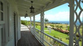 Visión desde la terraza en la isla del santo San Cristobal y Nevis almacen de metraje de vídeo
