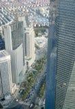 Visión desde la torre de Jin Mao en Shangai Foto de archivo libre de regalías