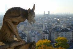 Visión desde la torre de Notre Dame, París Fotos de archivo libres de regalías