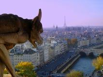 Visión desde la torre de Notre Dame, París Imagenes de archivo