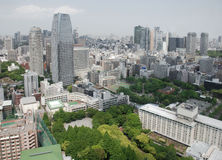 Visión desde la torre de Tokio imágenes de archivo libres de regalías