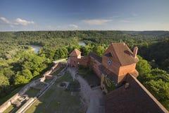 Visión desde la torre de Turaida Fotos de archivo