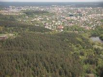 Visión desde la torre de Vilna TV (Lituania) Fotos de archivo libres de regalías