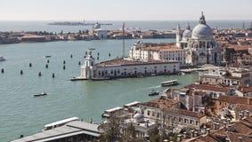 Visión desde la torre del campanil en el cuadrado de San Marco Imagen de archivo