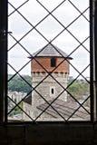 Visión desde la torre del castillo imagen de archivo libre de regalías