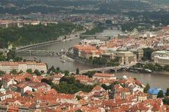 Visión desde la torre del puesto de observación de Petrin, Praga - República Checa Fotografía de archivo libre de regalías