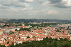 Visión desde la torre del puesto de observación de Petrin, Praga - República Checa Imágenes de archivo libres de regalías