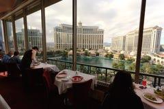 Visión desde la torre Eiffel, Las Vegas fotografía de archivo