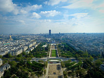 Visión desde la torre Eiffel, París, Francia Fotografía de archivo libre de regalías