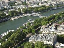 Visión desde la torre Eiffel sobre el río el Sena Imágenes de archivo libres de regalías
