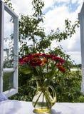 Visión desde la ventana abierta imágenes de archivo libres de regalías