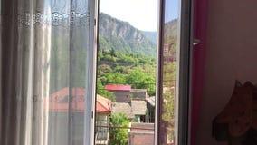 Visión desde la ventana, borjomi Georgia almacen de video