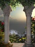 Visión desde la ventana del castillo Fotografía de archivo