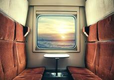 Visión desde la ventana del tren Imagen de archivo