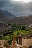 Visión desde Lamayuru monastary Imagenes de archivo