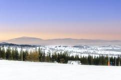 Visión desde las montañas de Gubalowka - de Tatra Foto de archivo libre de regalías